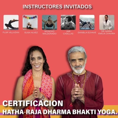 Certificación intensiva 200h Hatha-Raja Dharma Bhakti Yoga.
